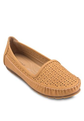 雕花平底懶人zalora 衣服尺寸鞋, 女鞋, 芭蕾平底鞋