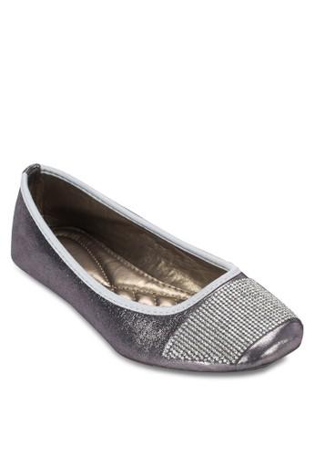 閃鑽方頭平底zalora 台灣鞋, 女鞋, 鞋