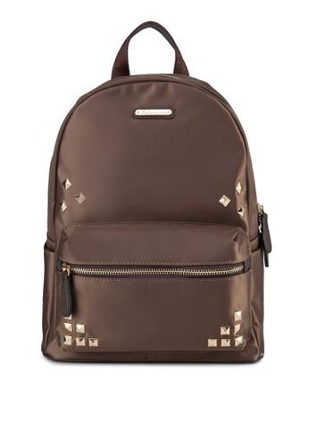 PU 鉚釘拉鍊後背包, zalora 順豐包, 飾品配件