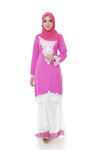 Azira Pink and White from Maribeli Butik in White and Pink