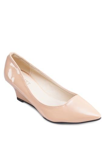 Jenny 尖zalora鞋子評價頭漆面楔形鞋, 女鞋, 厚底楔形鞋
