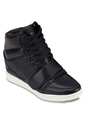 沖孔內zalora 評價增高高筒運動鞋, 女鞋, 休閒鞋