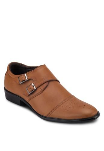 扣環飾帶商zalora退貨務皮鞋, 鞋, 休閒皮鞋