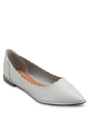 花邊尖頭平底鞋zalora 心得, 女鞋, 芭蕾平底鞋