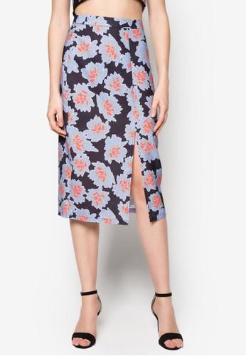 碎花前開衩鉛筆裙, 服飾zalora鞋子評價, 裙子