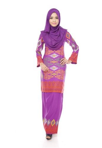 Royal Songket Kurung Modern – Purple (ELECTRIC INDIGO) from Maribeli Butik in Purple