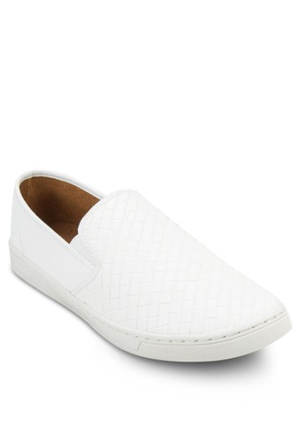Fazalora 台灣門市ux Weave Leather Slip On Sneaker, 鞋, 鞋