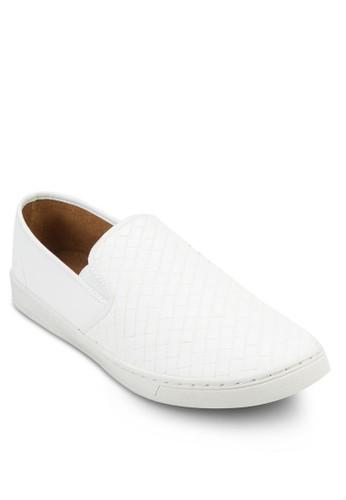 Fazalora 台灣門市ux Weave Leather Slip On Sneaker, 鞋, 鞋