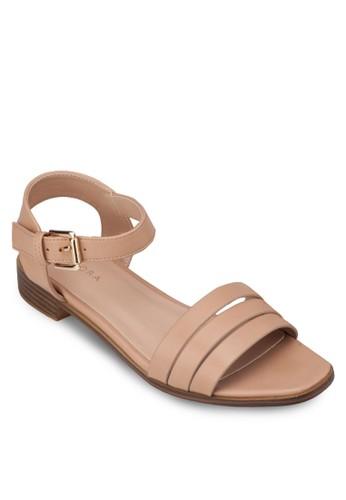 zalora 心得多帶繞踝低跟涼鞋, 女鞋, 涼鞋