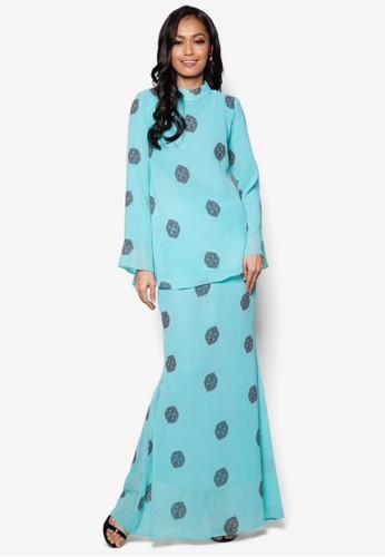 Mini Kurung Princess Cut from Zuco Fashion in Blue