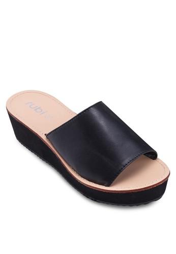 Feline 寬zalora 心得帶厚底楔形涼鞋, 女鞋, 鞋