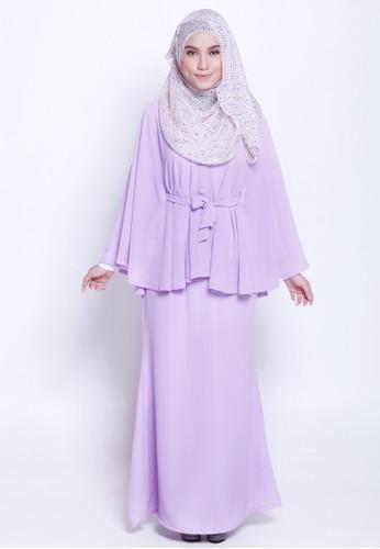 Lamis Kaftan &Mermaid Skirt from Marwa in Purple