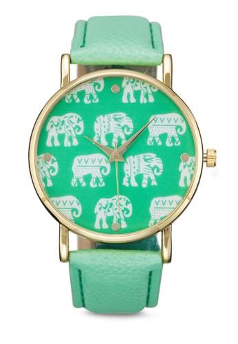 迷你象印花手錶, 錶類,zalora退貨 其它錶帶