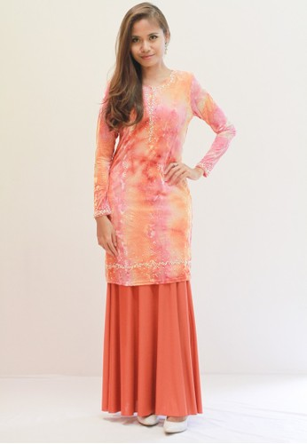 Sweetheart Jameela Baju Kurung (ORANGE) from Sweetheart in Orange