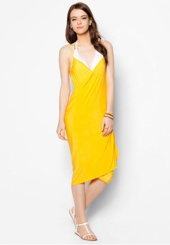 Mira 裹飾大挖背沙灘zalora 包包評價連身裙, 服飾, 服飾