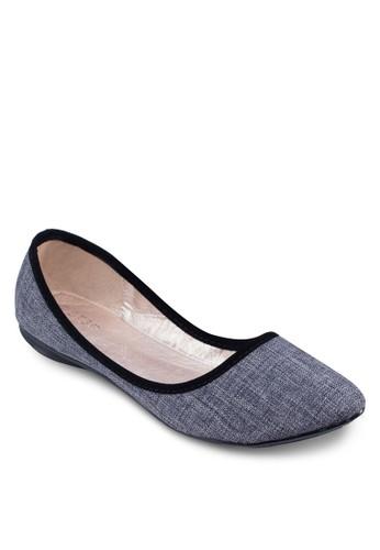 丹寧滾邊平底鞋, 女鞋,zalora退貨 鞋