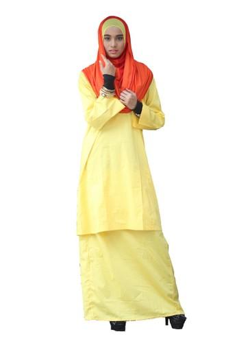 Baju Kurung Pahang Amina – Yellow from anisse in Yellow