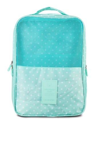 印花輕量防水可折式旅行鞋袋, 包, 旅行配zalora 心得件
