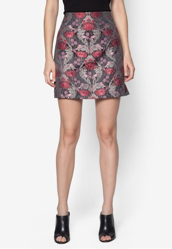 Premium 花卉刺繡短zalora鞋子評價裙, 服飾, 迷你裙
