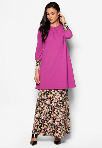 Nursing Blossom Baju Kurung from Aqeela Muslimah Wear in Purple
