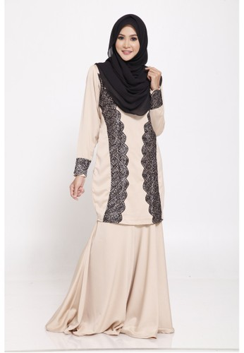 Orla Kurung from KEVAY.CO in Brown and Beige