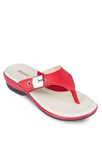 金屬飾夾腳厚底涼鞋, 女鞋zalora 評價, 涼鞋