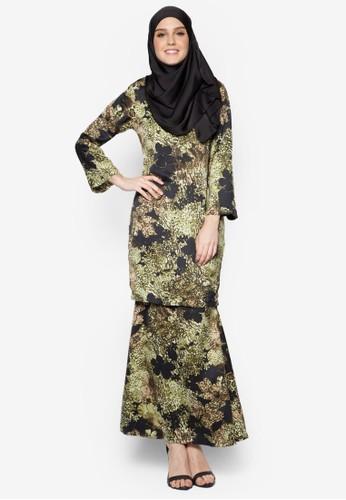 Baju Kurung Moden Asirah from Butik Sireh Pinang in Green