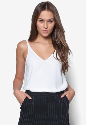 雙topshop官網肩帶V 領背心, 韓系時尚, 梳妝