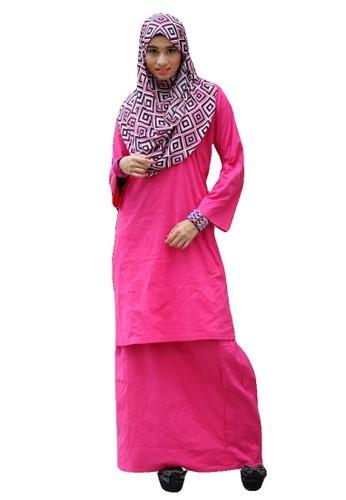 Baju Kurung Pahang Amina - Pink from anisse in Pink