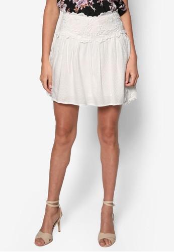 Petite 蕾絲寬擺短裙zalora 折扣碼, 服飾, 裙子