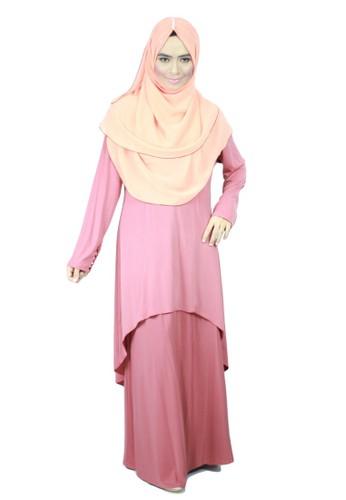 Aleyka Baju Kurung Fandago Pink from anisse in Pink